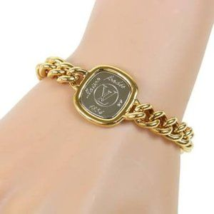Louis Vuitton Gold Gold-tone I.D. Bracelet